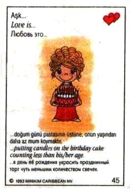 Любовь это... на ее день родения поставить на торт меньше свечек